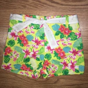 Other - Toddler girl yellow floral shorts size 3T
